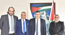 Ambassador Azad Dhomun, one of the architects of the rapprochement of the last few years between Mauritius and Palestine, pays a courtesy visit to Adv. Anton Salman, Mayor of Bethlehem